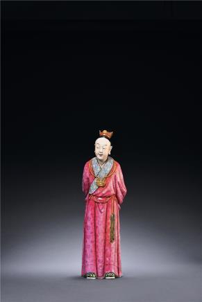 清 粉彩贾宝玉人物瓷塑