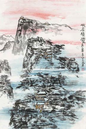 吴一峰  峨眉积雪