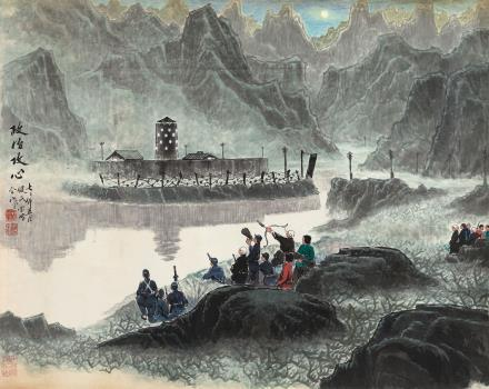 杨鉴民 尤宝峰 1972年作 政治攻心 镜心 设色纸本
