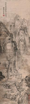 王蒙 青卞隐居图 立轴 水墨纸本