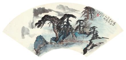 蔡德林 山水扇面