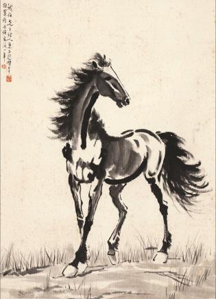 徐悲鸿 骏马