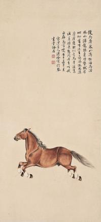 溥佺 奔马