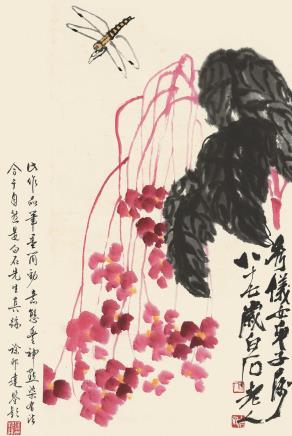 齐白石 海棠花