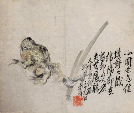 李鱓 金蟾