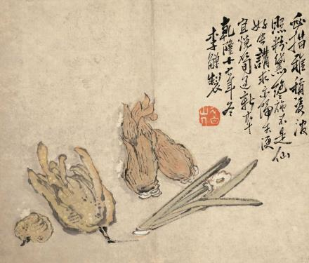 李鱓 神仙福寿