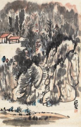 山水  陈子庄