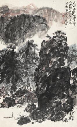 山居图  陈子庄