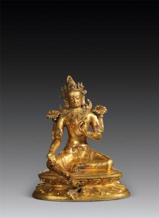 16世纪铜鎏金度母像