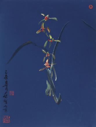 蓝犁、兰花(B)