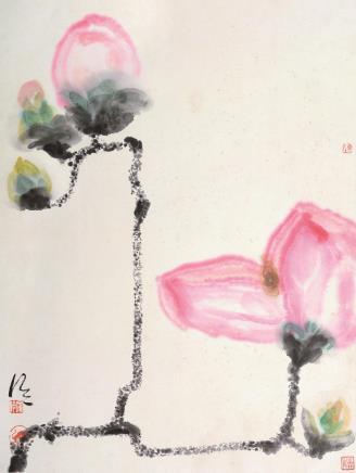 陈家泠(b.1937)新荷