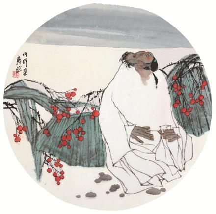 袁武(b.1959)花间独酌