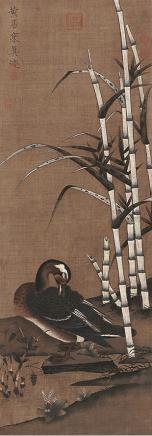 黄居寀 鹅立轴