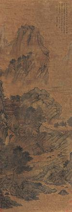 王翚 山水立轴