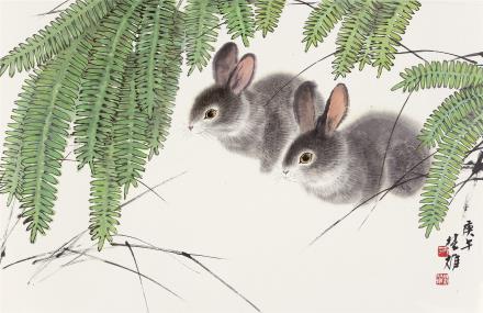 方楚雄(b.1950)兔语