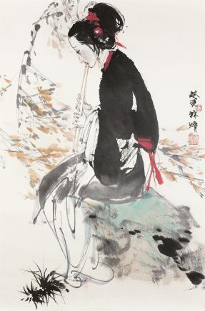 林墉(b.1942)仕女