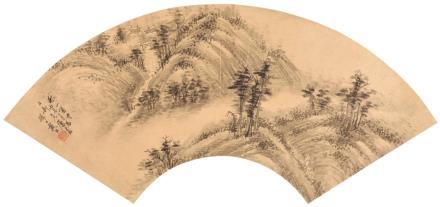 秋山箫寺  戴熙