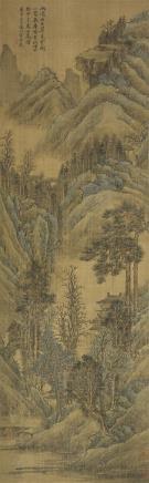 方士庶  山水(绢本)