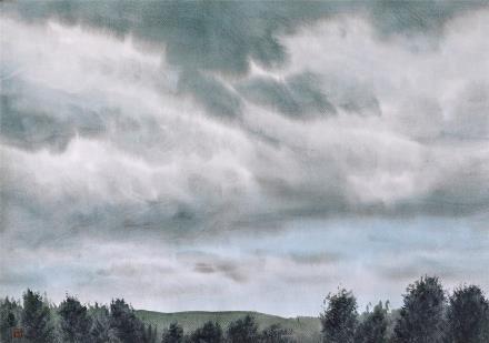 贺国平 书画纸片水彩画  《云系列之二》