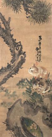 邓汉臣  猫戏图