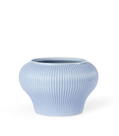 清康熙  天蓝釉百条缸