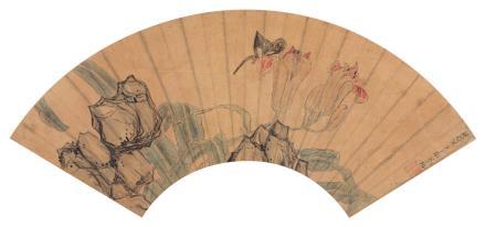 陈洪绶 1599-1652萱石蛱蝶图