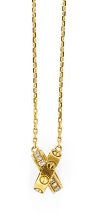 卡地亚 Cartier LOVE系列 钻石吊坠项链