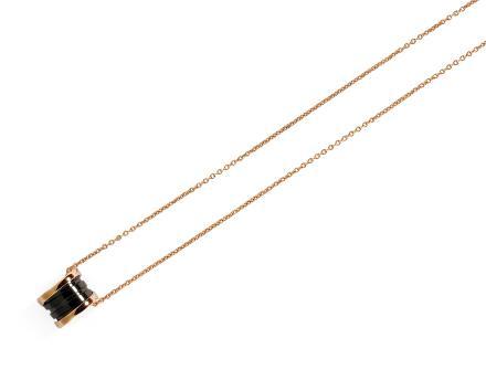 宝格丽 BVLGARI B.ZERO1 黑瓷吊坠项链