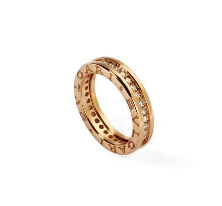 宝格丽 BVLGARI B.ZERO1 单环密镶钻石戒指