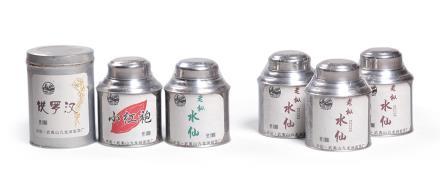 老枞水仙五十年3罐、铁罗汉、小红袍、老枞水仙各1罐