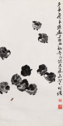 齐良迟(1921-2003)雏鸡