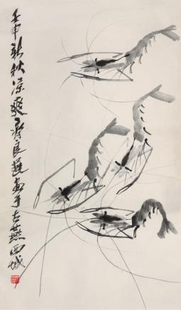 齐良迟(1921-2003)群虾