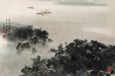 宋涤(b.1945)太湖朝雾