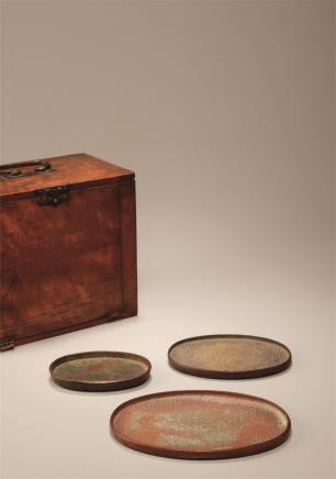 清  铜制椭圆形铜盘  (一组)