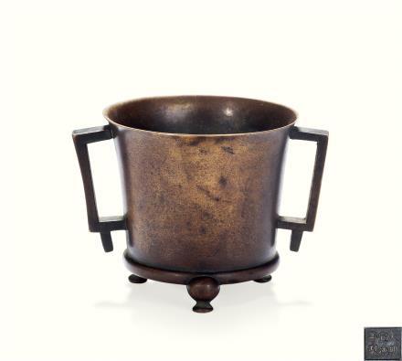 清  铜燕翎法盏炉