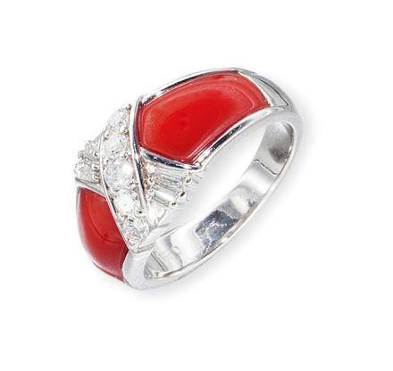 PT900珊瑚戒指