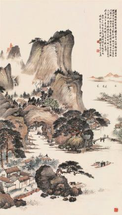 钱松嵒  林屋山居图