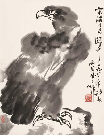1982年作  蒋风白  雄鹰图