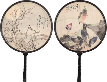 丙申(1896)年作屈兆麟    荷塘雅趣·疏影暗香