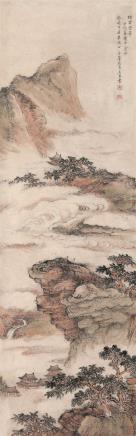 甲戌(1634)年作吴宏    烟云空翠