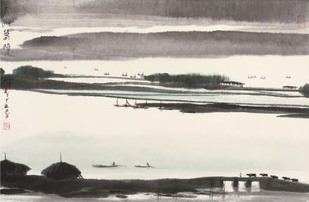 丁丑(1997)年作  杨明义  太湖春晓