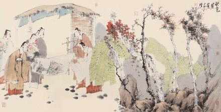 己卯(1999)年作  唐勇力  秋色图景
