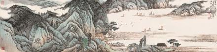 庚午(1990)年作  宋玉麟  富春山色图