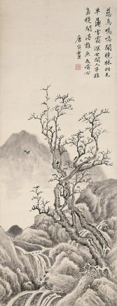 唐寅  慈鸟闹林