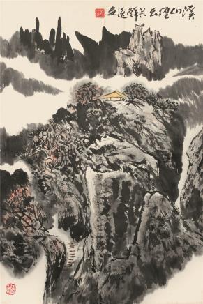 郭公达  溪山烟云