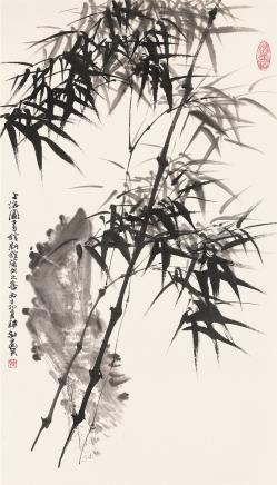 韩敏 竹石图