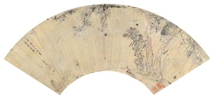 程嘉燧 1565-1643松菊图