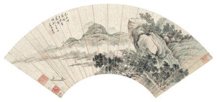 董诰 1740-1818泛舟图