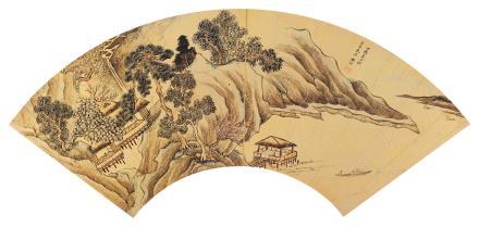 樊圻 1616-1694后溪山泛舟图