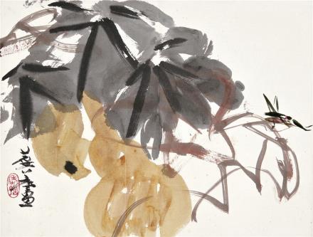 许麟庐 1916-2011葫芦草虫
